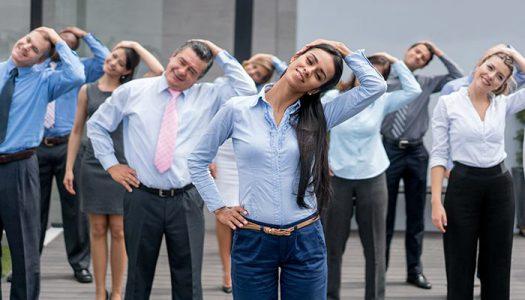 Фитнес вежби на работното место